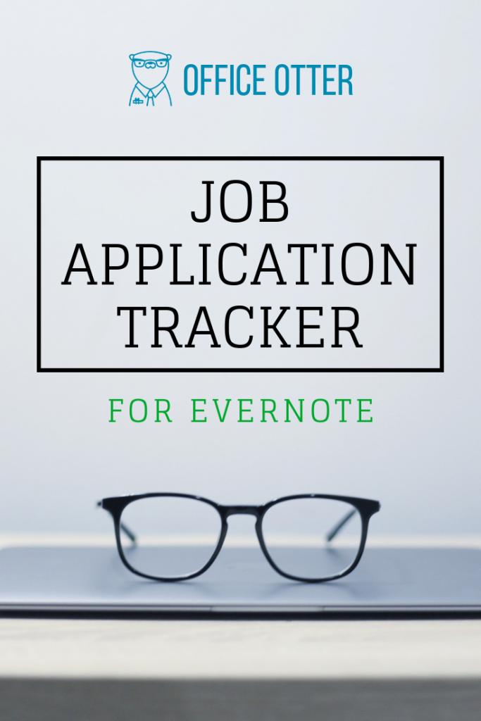 Job Application Tracker Pinterest Image