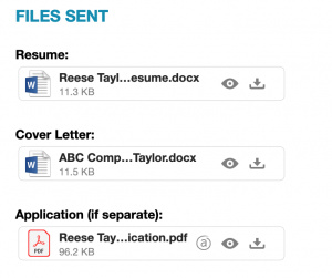 File Attachments to track job applications in evernote