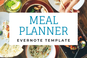 Meal Planner for Evernote P1