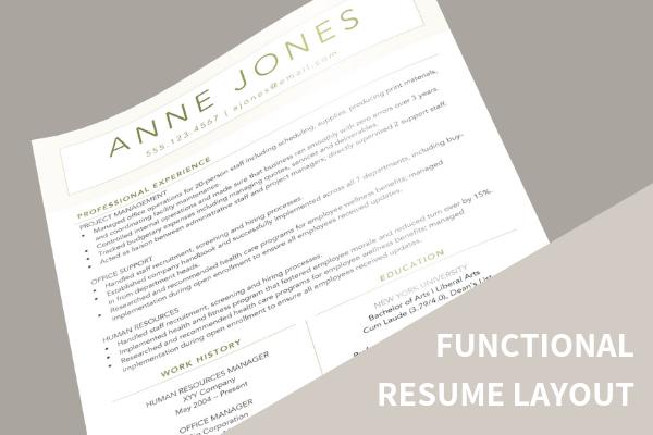 Natural Resume close up